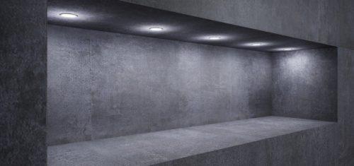 LED spotlights ugrađene u zid