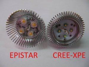 Eepistar-cree čipovi -razlika